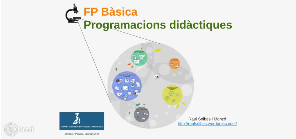 Jornadas FP Básica. Programaciones didácticas