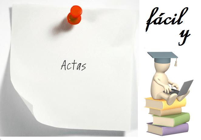 ACTAS. Fácil y práctico!