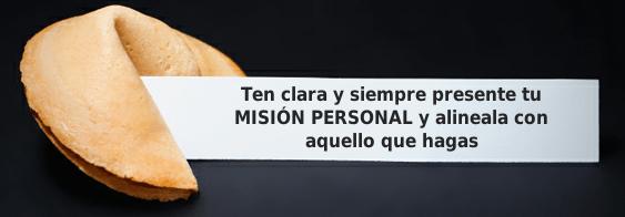 Misión personal y gestión del tiempo
